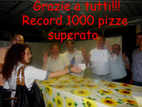 RECORD 1000 pizze